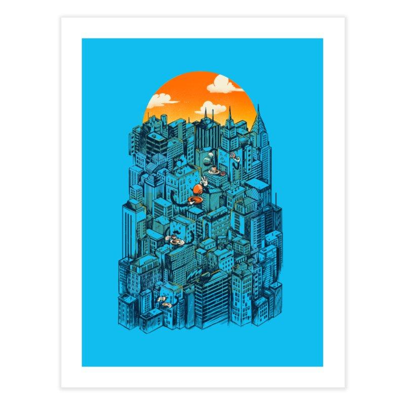 The city that never sleeps takes a break Home Fine Art Print by MadKobra