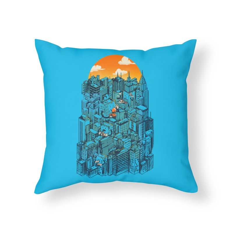 The city that never sleeps takes a break Home Throw Pillow by MadKobra