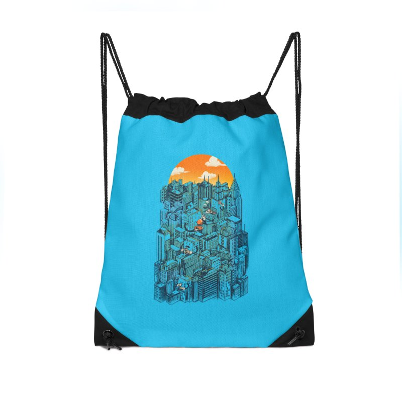The city that never sleeps takes a break Accessories Drawstring Bag Bag by MadKobra