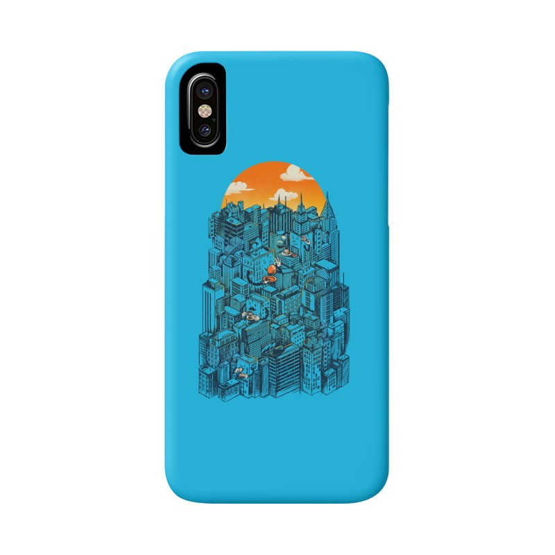 The city that never sleeps takes a break Accessories Phone Case by MadKobra