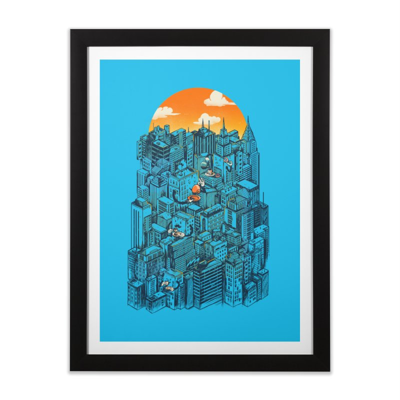 The city that never sleeps takes a break Home Framed Fine Art Print by MadKobra