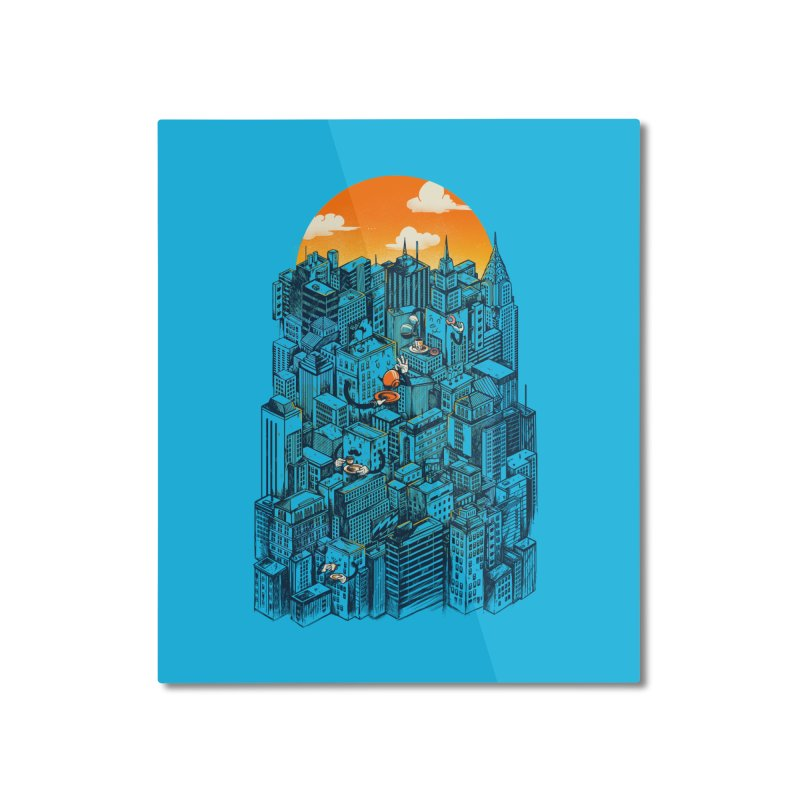 The city that never sleeps takes a break Home Mounted Aluminum Print by MadKobra