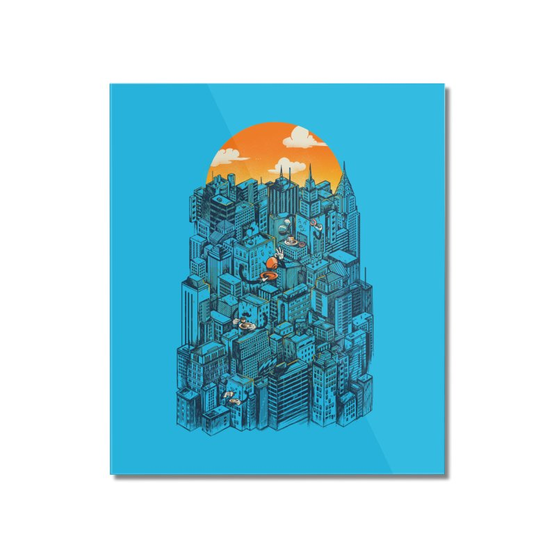 The city that never sleeps takes a break Home Mounted Acrylic Print by MadKobra