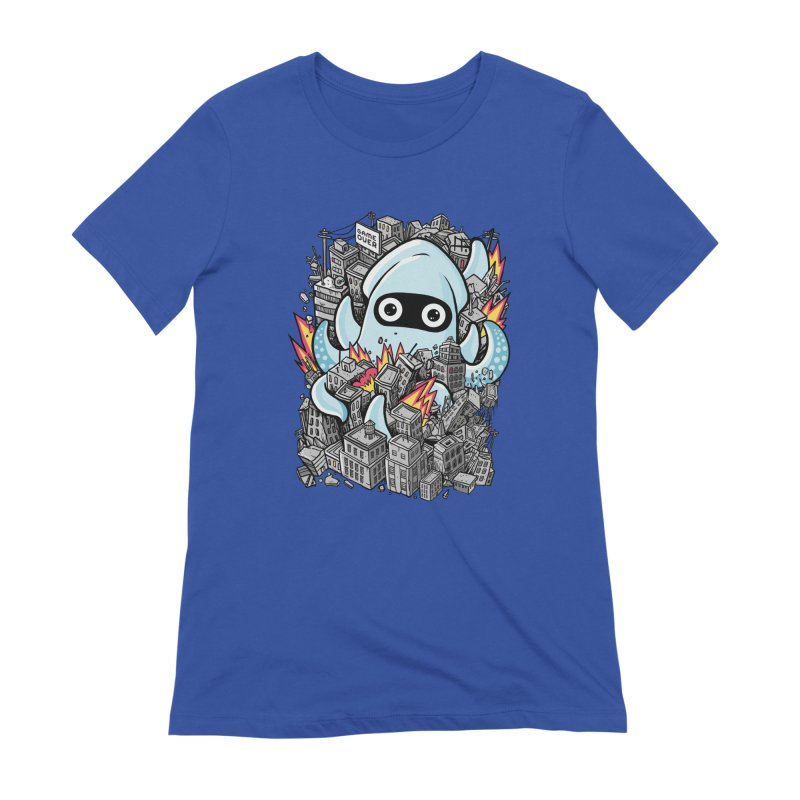 Tentacle attack Women's Extra Soft T-Shirt by MadKobra