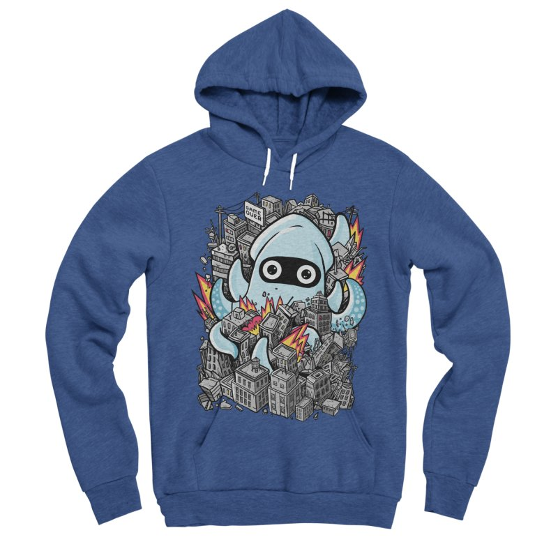 Tentacle attack Men's Sponge Fleece Pullover Hoody by MadKobra