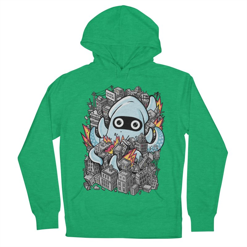 Tentacle attack Women's French Terry Pullover Hoody by MadKobra