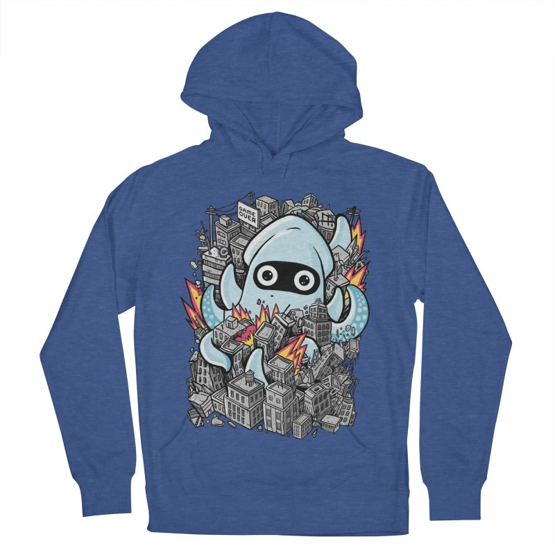Tentacle attack Men's French Terry Pullover Hoody by MadKobra