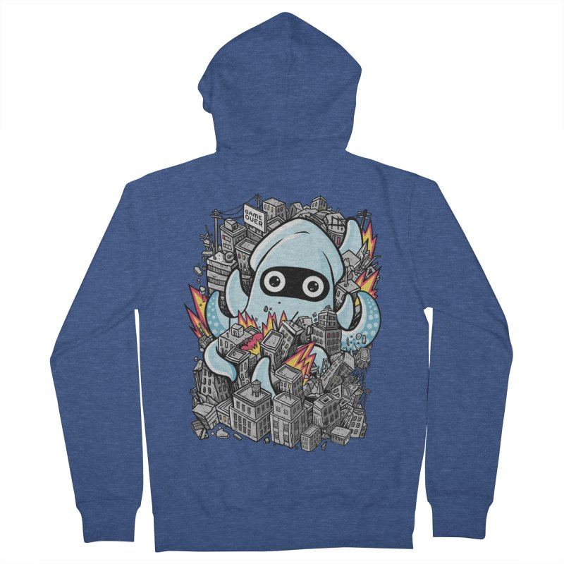 Tentacle attack Women's French Terry Zip-Up Hoody by MadKobra