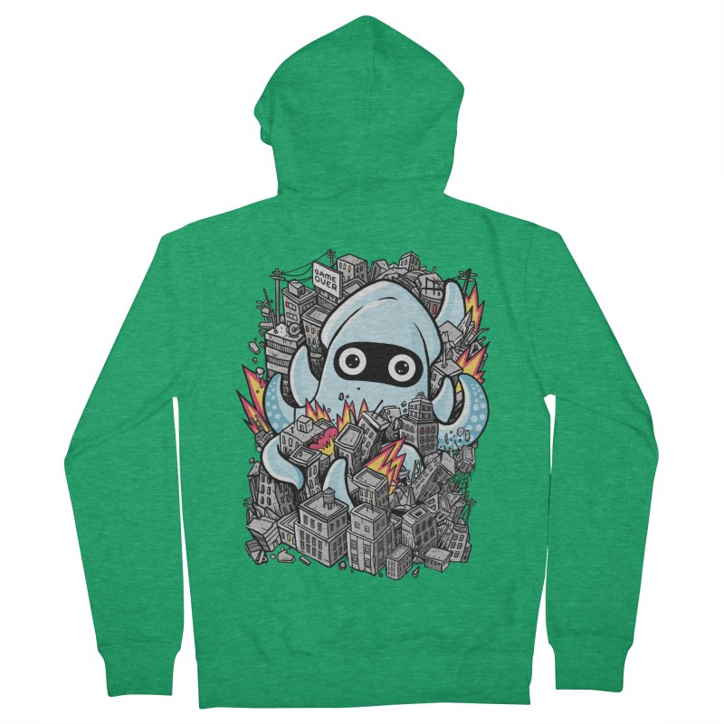 Tentacle attack Men's French Terry Zip-Up Hoody by MadKobra