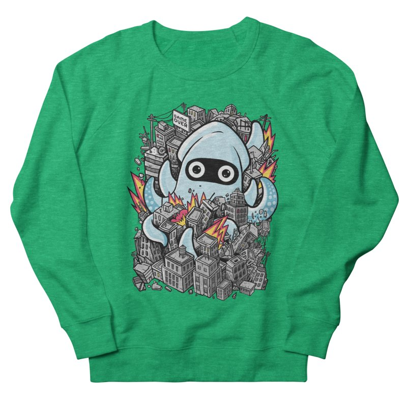 Tentacle attack Women's French Terry Sweatshirt by MadKobra