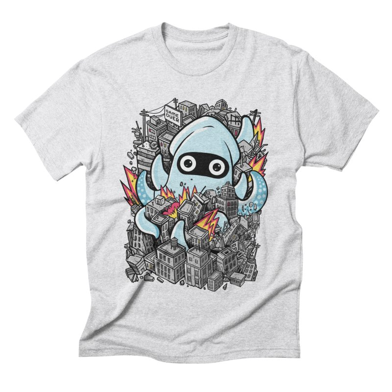 Tentacle attack Men's Triblend T-Shirt by MadKobra