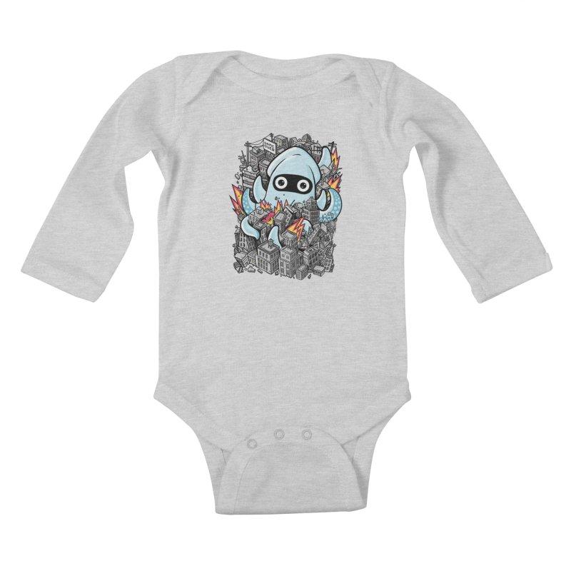 Tentacle attack Kids Baby Longsleeve Bodysuit by MadKobra