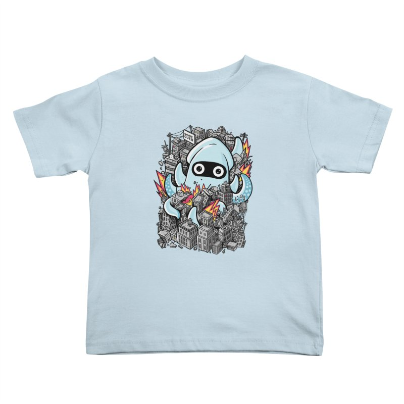 Tentacle attack Kids Toddler T-Shirt by MadKobra