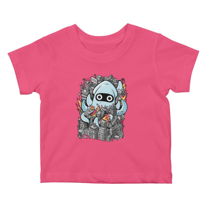 Tentacle attack Kids Baby T-Shirt by MadKobra