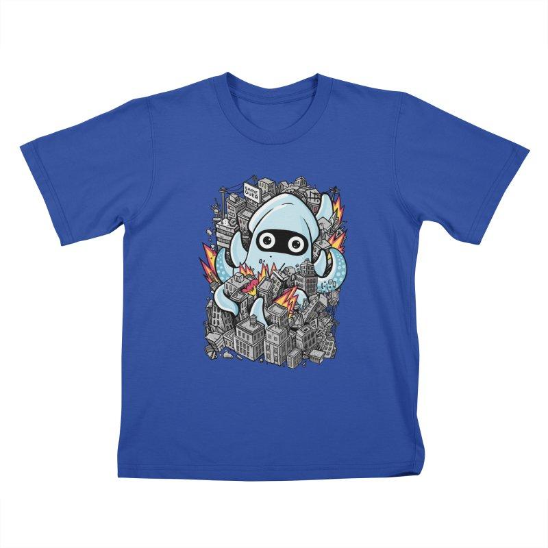 Tentacle attack Kids T-Shirt by MadKobra