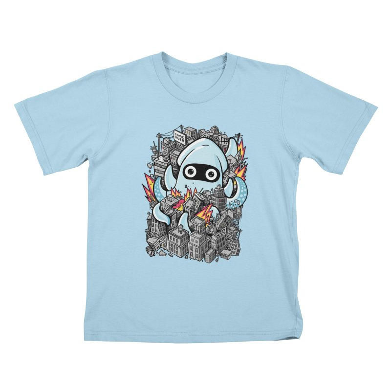 Tentacle attack Kids T-Shirt by MadKobra