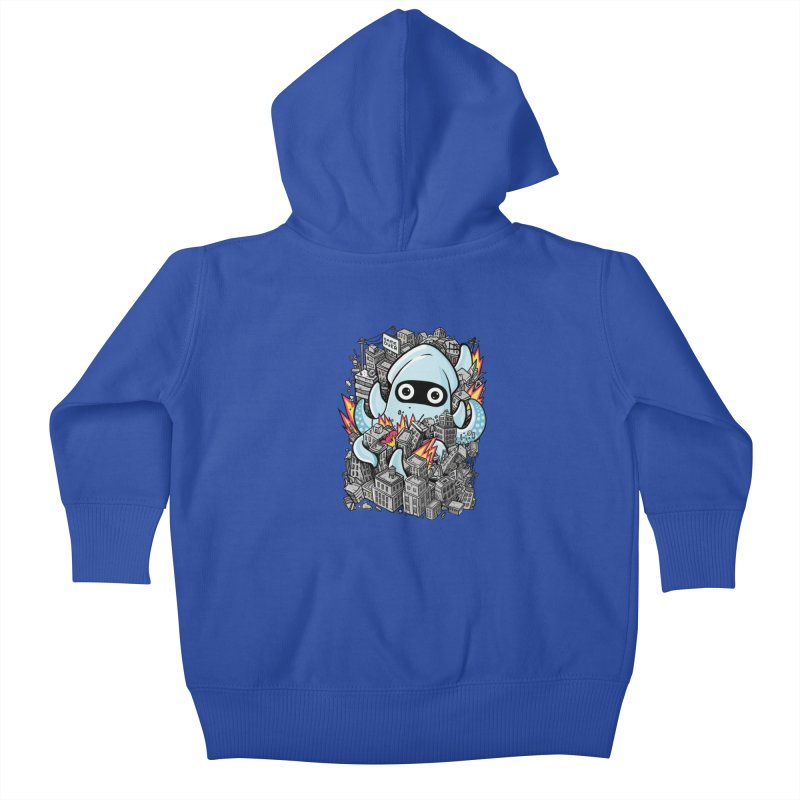 Tentacle attack Kids Baby Zip-Up Hoody by MadKobra
