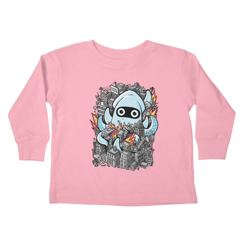Tentacle attack Kids Toddler Longsleeve T-Shirt by MadKobra
