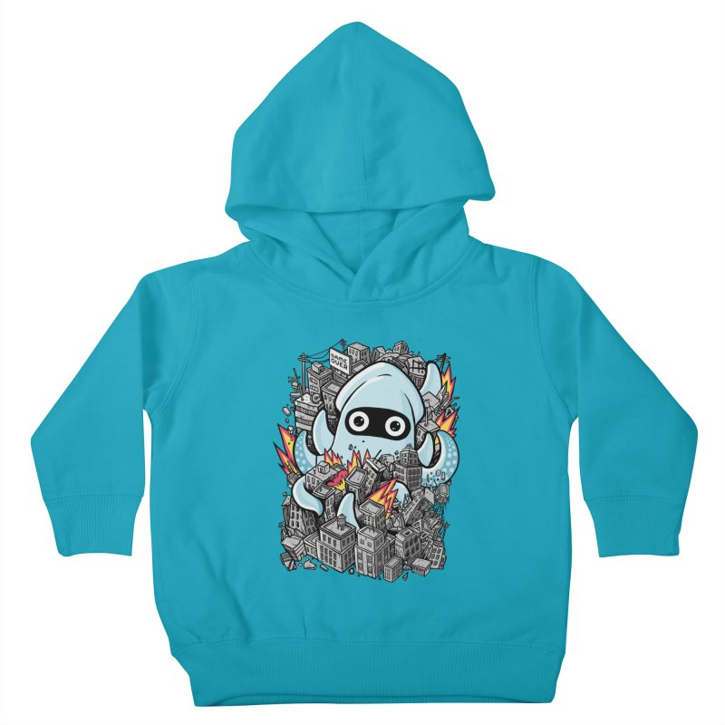Tentacle attack Kids Toddler Pullover Hoody by MadKobra