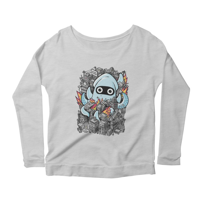 Tentacle attack Women's Scoop Neck Longsleeve T-Shirt by MadKobra