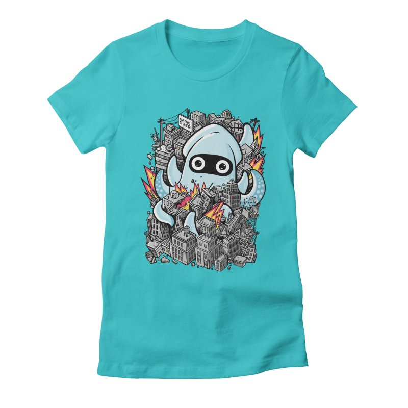 Tentacle attack Women's Fitted T-Shirt by MadKobra