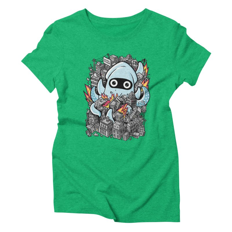 Tentacle attack Women's Triblend T-Shirt by MadKobra