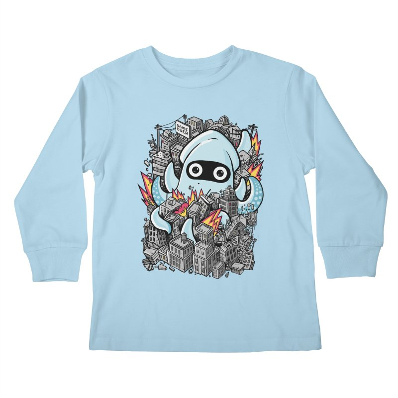 Tentacle attack Kids Longsleeve T-Shirt by MadKobra