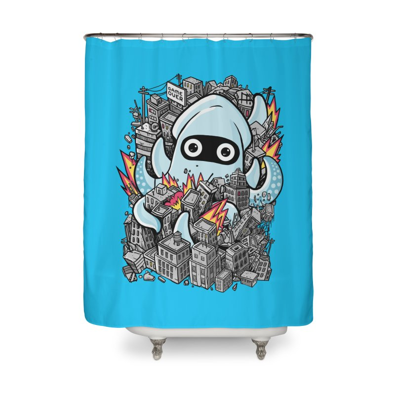 Tentacle attack Home Shower Curtain by MadKobra