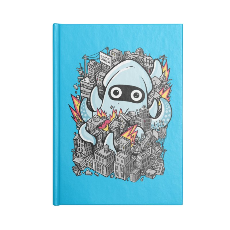 Tentacle attack Accessories Lined Journal Notebook by MadKobra