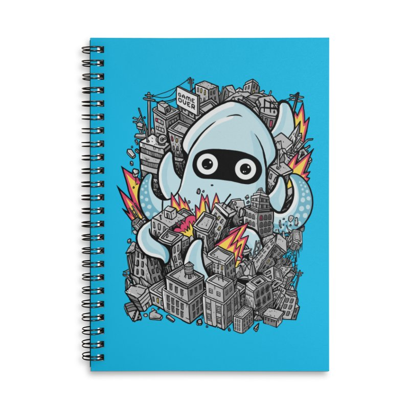 Tentacle attack Accessories Lined Spiral Notebook by MadKobra