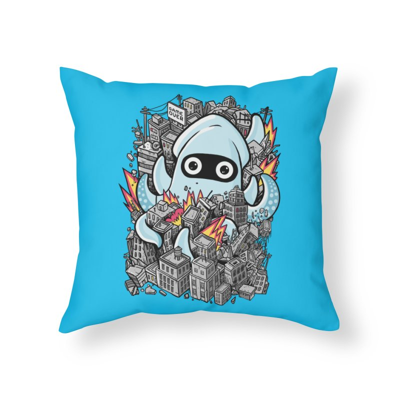 Tentacle attack Home Throw Pillow by MadKobra