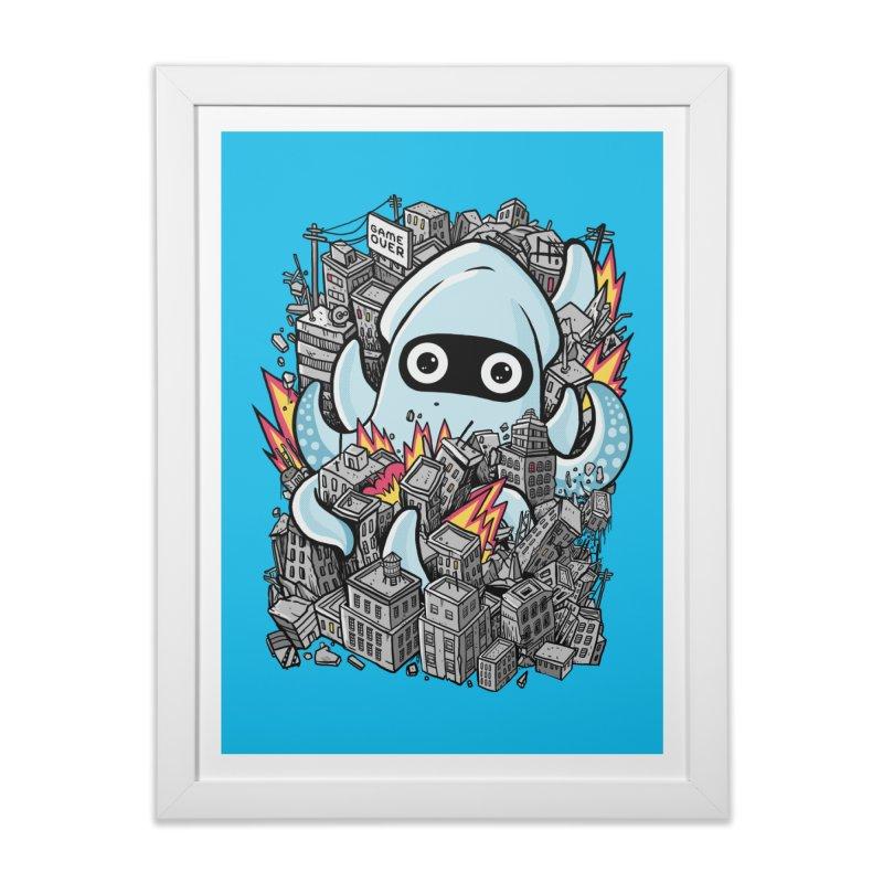 Tentacle attack Home Framed Fine Art Print by MadKobra
