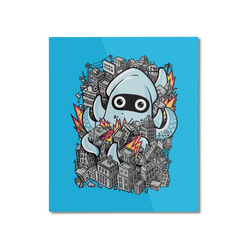 Tentacle attack Home Mounted Aluminum Print by MadKobra