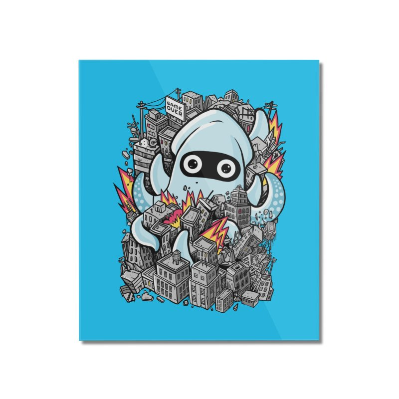 Tentacle attack Home Mounted Acrylic Print by MadKobra