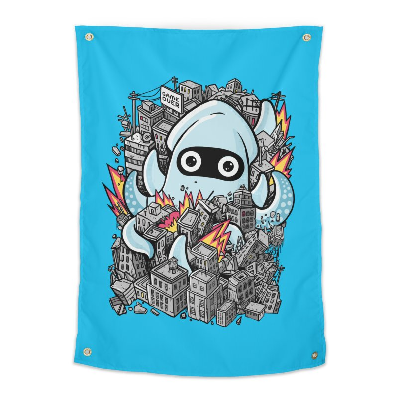 Tentacle attack Home Tapestry by MadKobra