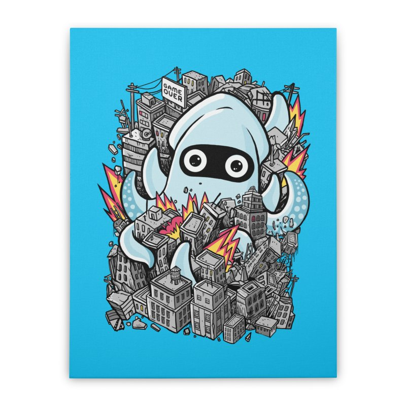 Tentacle attack Home Stretched Canvas by MadKobra