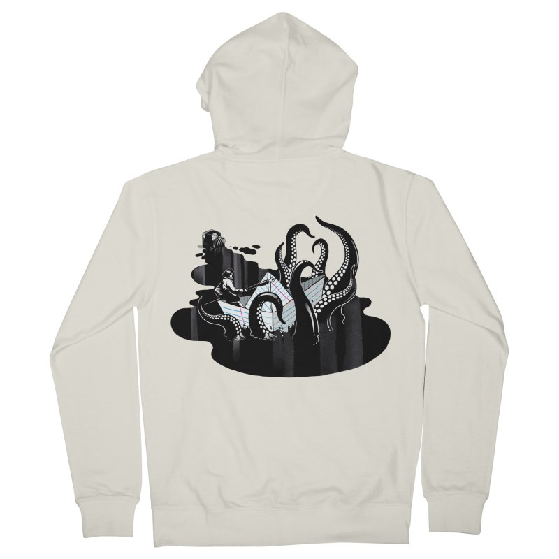 A smooth ink never made a skilled artist Men's French Terry Zip-Up Hoody by MadKobra