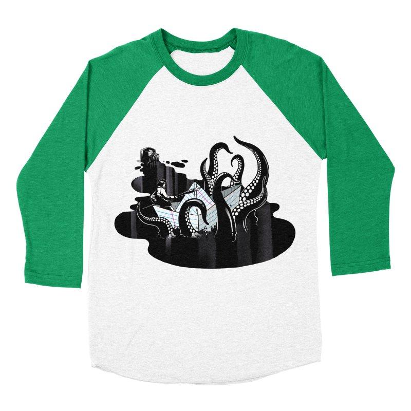 A smooth ink never made a skilled artist Men's Baseball Triblend Longsleeve T-Shirt by MadKobra
