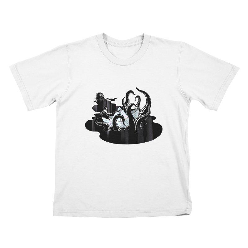 A smooth ink never made a skilled artist Kids T-Shirt by MadKobra