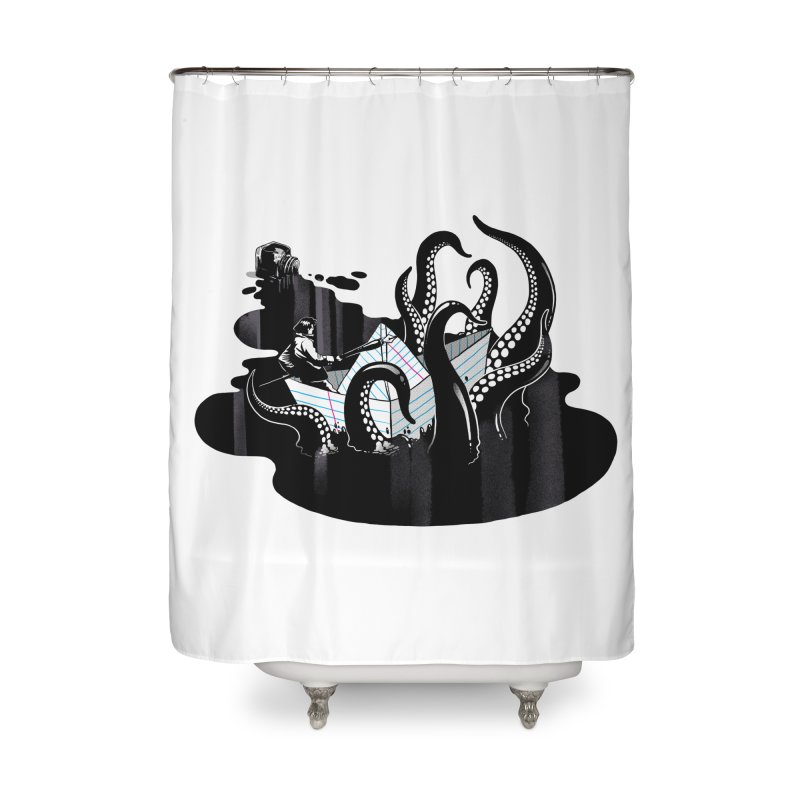 A smooth ink never made a skilled artist Home Shower Curtain by MadKobra