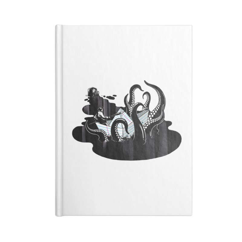 A smooth ink never made a skilled artist Accessories Lined Journal Notebook by MadKobra