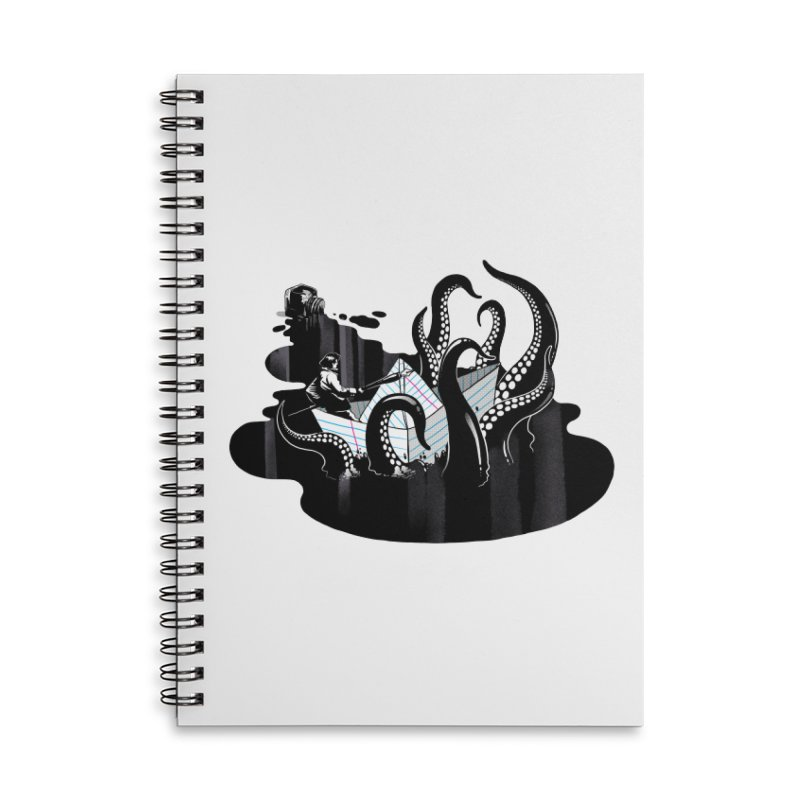 A smooth ink never made a skilled artist Accessories Lined Spiral Notebook by MadKobra