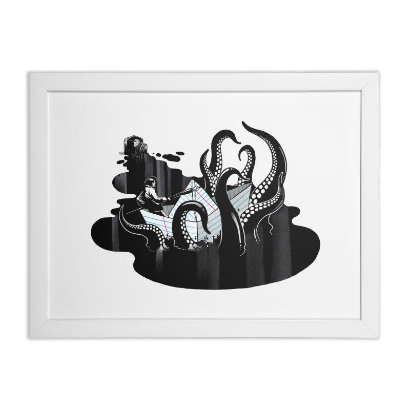 A smooth ink never made a skilled artist Home Framed Fine Art Print by MadKobra