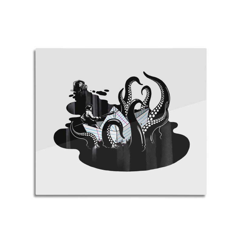 A smooth ink never made a skilled artist Home Mounted Aluminum Print by MadKobra