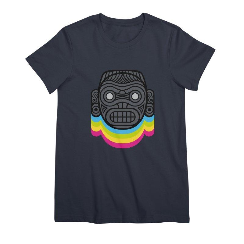 Taino mystic mask Women's Premium T-Shirt by MadKobra