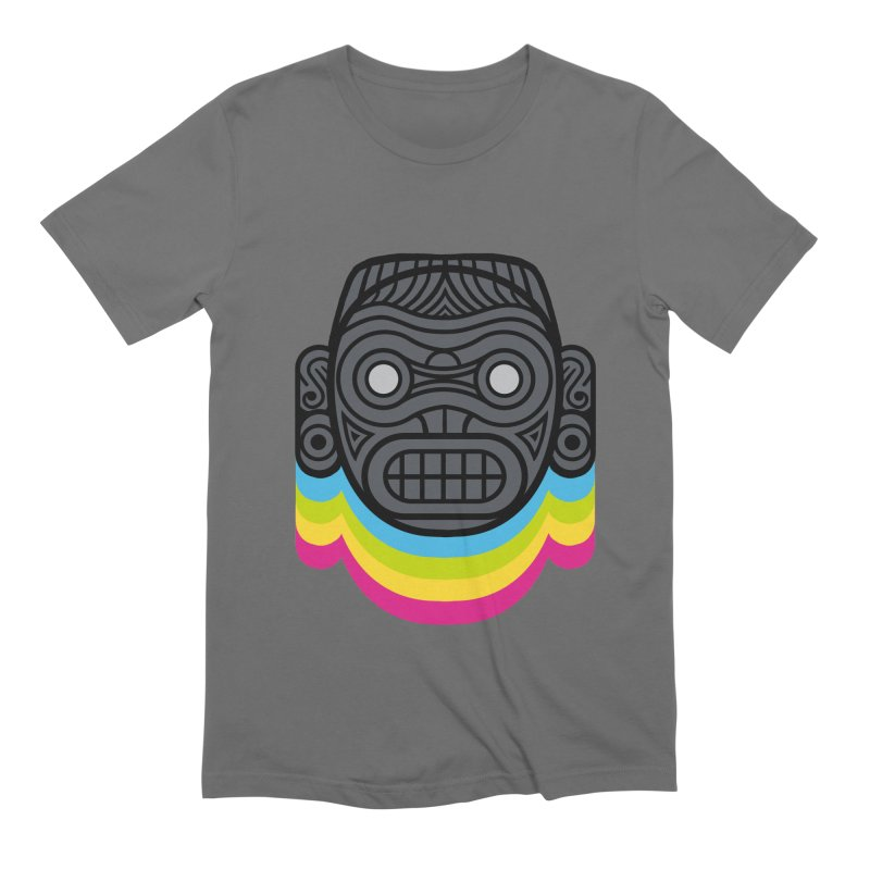 Taino mystic mask Men's Extra Soft T-Shirt by MadKobra