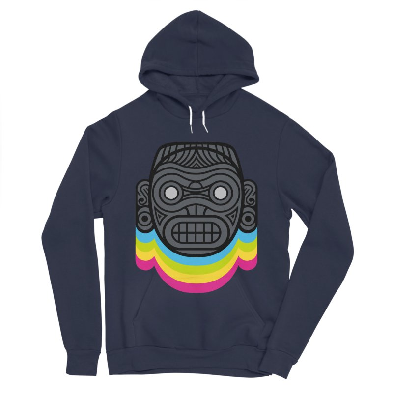 Taino mystic mask Men's Sponge Fleece Pullover Hoody by MadKobra