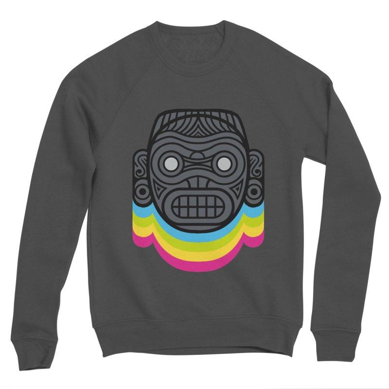 Taino mystic mask Women's Sponge Fleece Sweatshirt by MadKobra