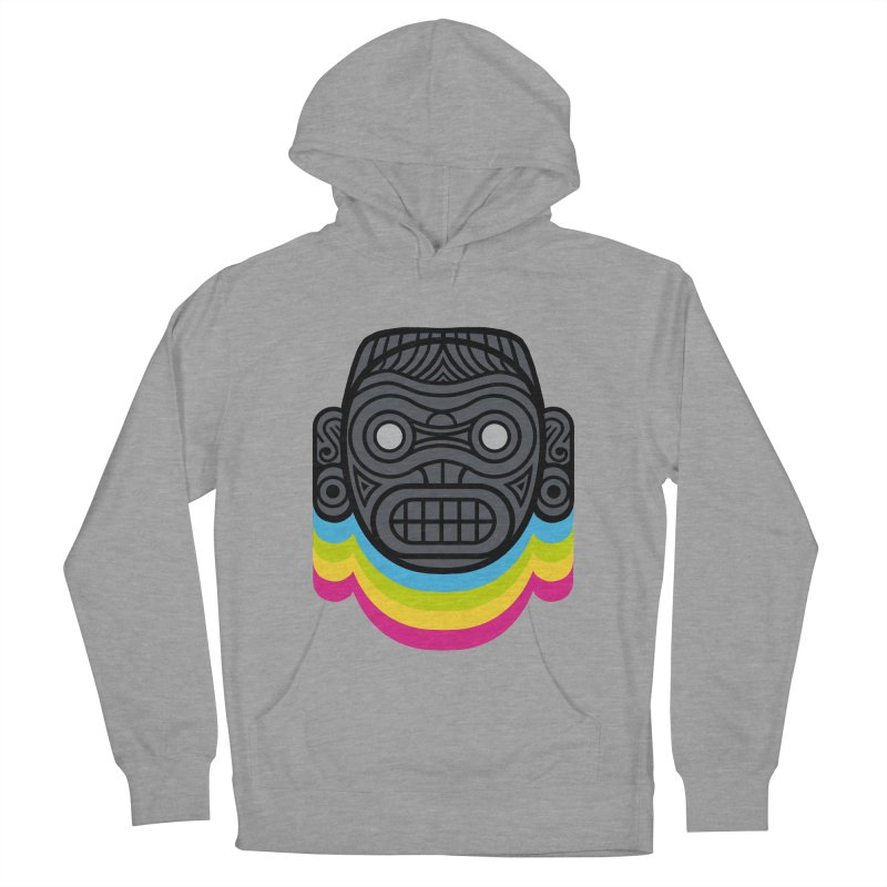 Taino mystic mask Men's French Terry Pullover Hoody by MadKobra