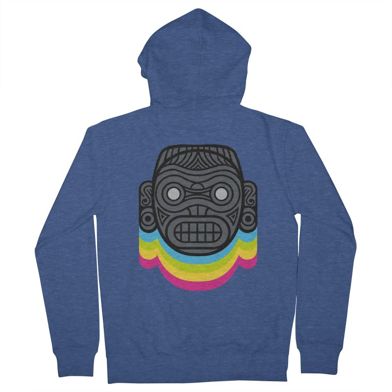 Taino mystic mask Men's French Terry Zip-Up Hoody by MadKobra